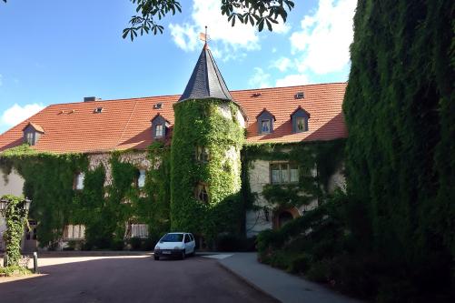 Rückseite des Stadtschloss Hecklingen