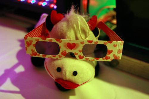 Kuh mit Brille