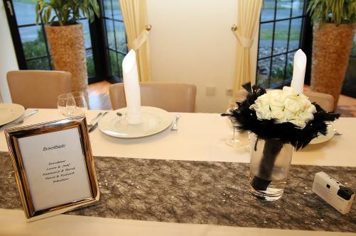 Brauttisch mit Brautstrauss - hochzeit in paderborn