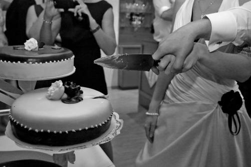 Anschnitt der Torte sw