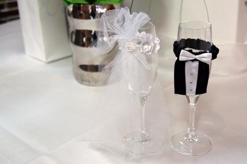 gläsernes Brautpaar