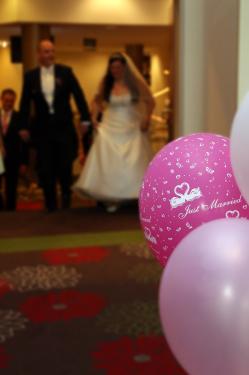 Ankunft des Brautpaares