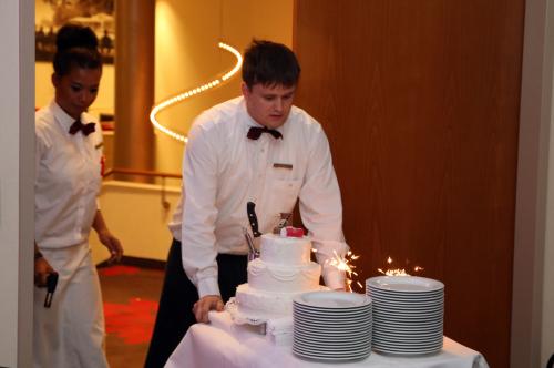 Auftritt der Hochzeitstorte